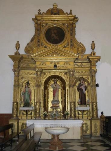 retablo de la antigua iglesia de Santa Ana